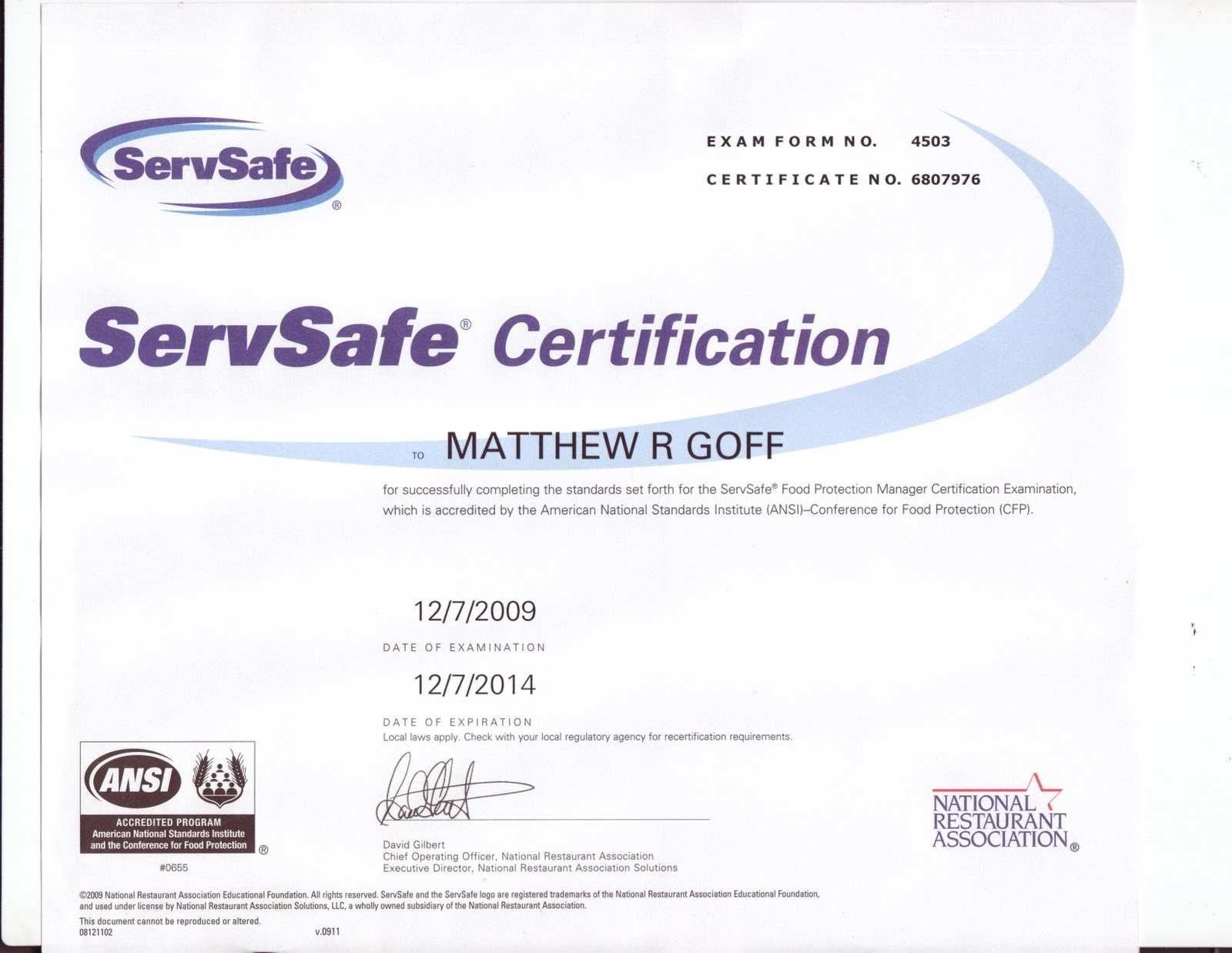 Fake servsafe certificate advanced servsafe certificate