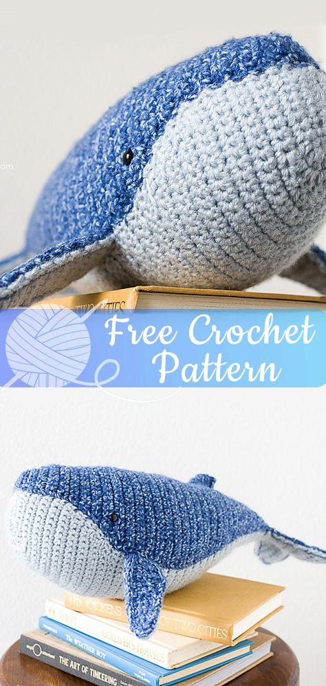 Amigurumi Baby Humpback Whale Free Crochet Pattern - Cool Creativities | 997x474