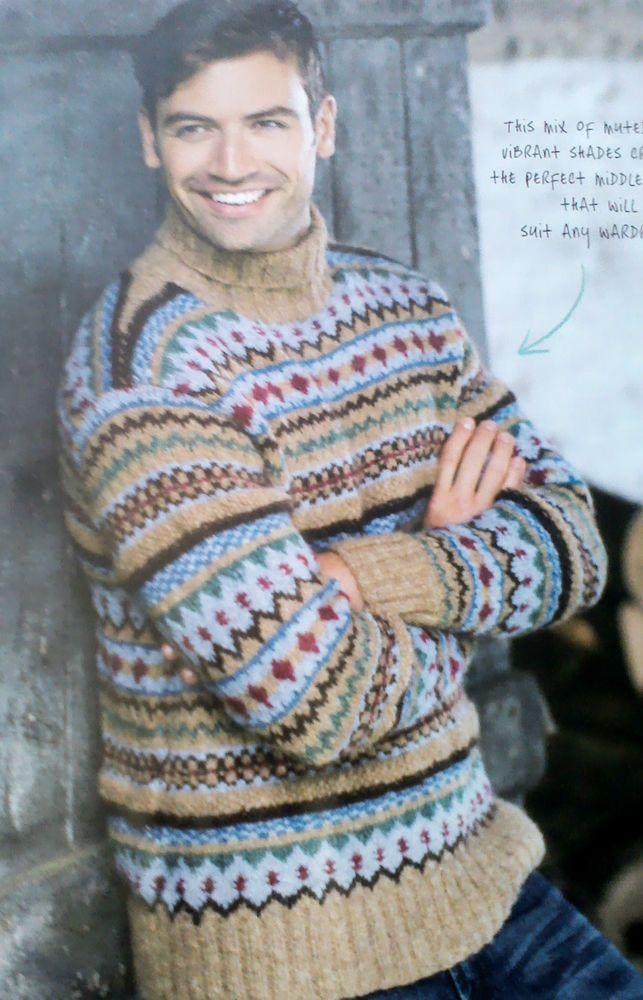 Knitting Pattern Man S Fair Isle Sweater In Rowan Lima Knitting