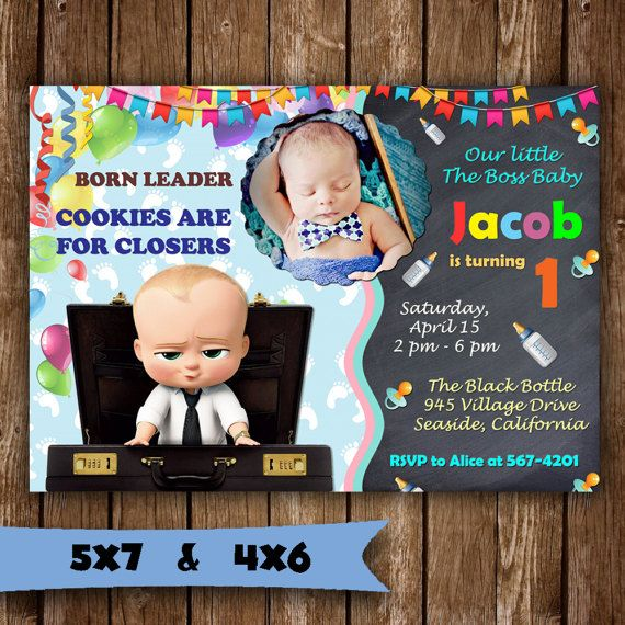 The Boss Baby Invitation Birthday Party Invite