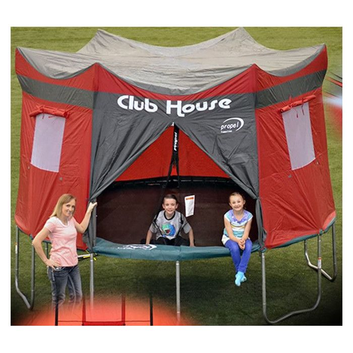 Clubhouse For 14 Trampoline In 2020 Trampoline Tent Trampoline Tent Cover Backyard Trampoline