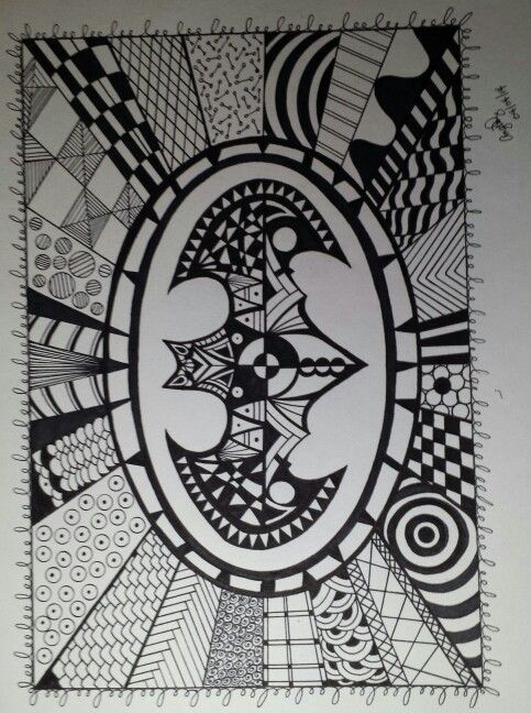 My Batman Signal Zentangle Pen Work Pinterest Batman Drawings