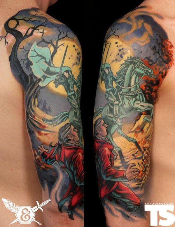 fb8161cb7 Awesome Headless Horseman tattoo!!   Tattoos   Tattoos, Dagger ...