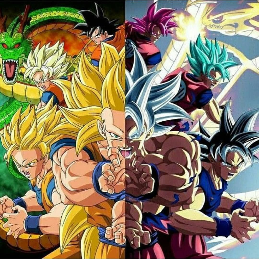 Which Do You Like Dbz Or Dbs Credit To The Person Who Made This Tag Someone Who Would Love Thi Anime Dragon Ball Super Dragon Ball Artwork Dragon Ball Goku