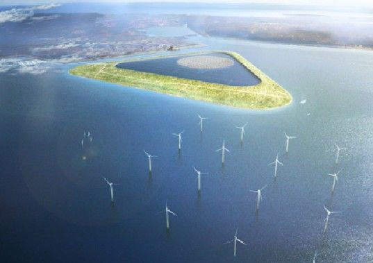 "The idea is to create what they describe as a ""Green Power Island"" off the coast of Copenhagen, which would become an ""energy super centre"" for the country. Description from renewableenergymagazine.com. I searched for this on bing.com/images"