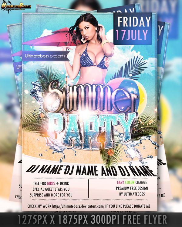 psd premium free summer flyer by ultimateboss beauty pinterest