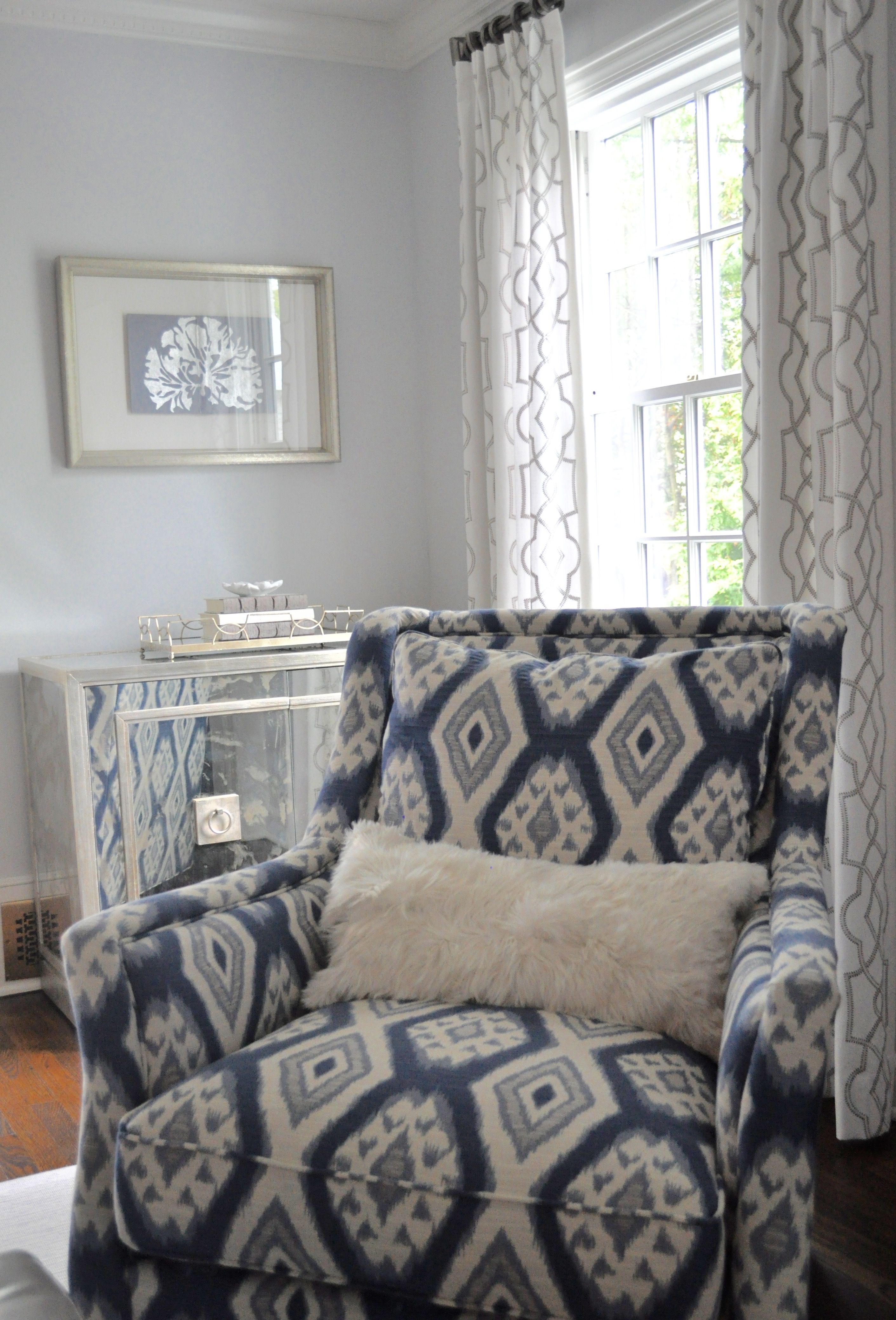 interior design Wostbrock Home blue and grey living room white