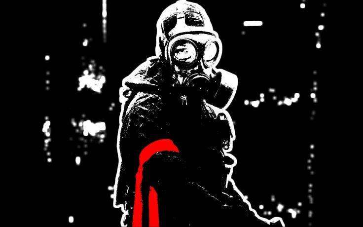 Dark Anarchy Horror Gas Mask Apocalyptic Wallpaper Background Apocalyptic Anarchy Gas Mask