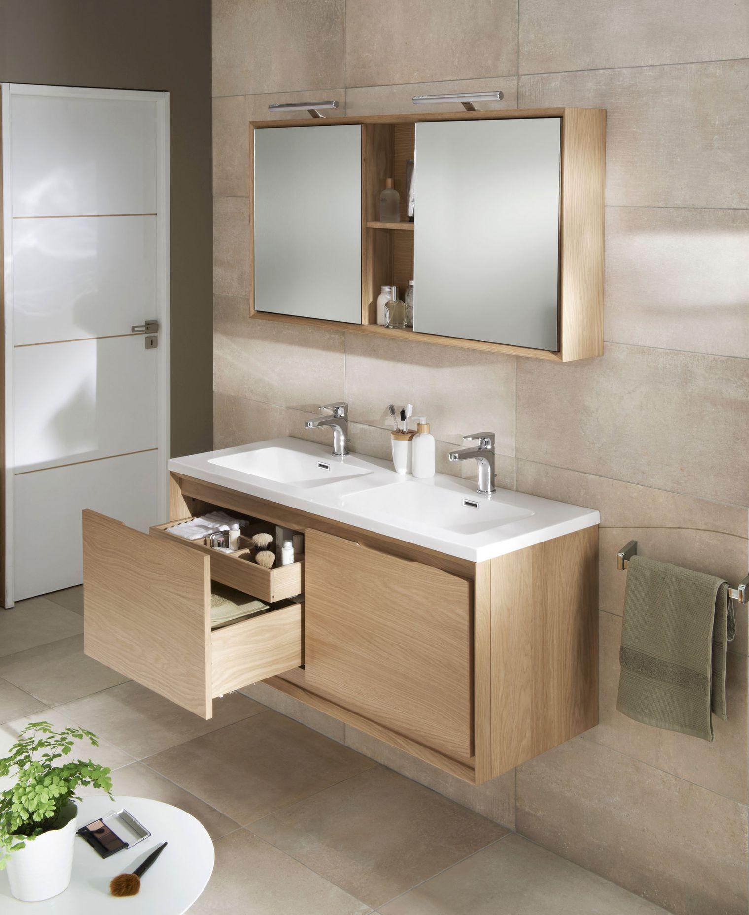 Salle de bains lapeyre les nouveaux meubles de salle de - Meuble de salle de bains en bois ...