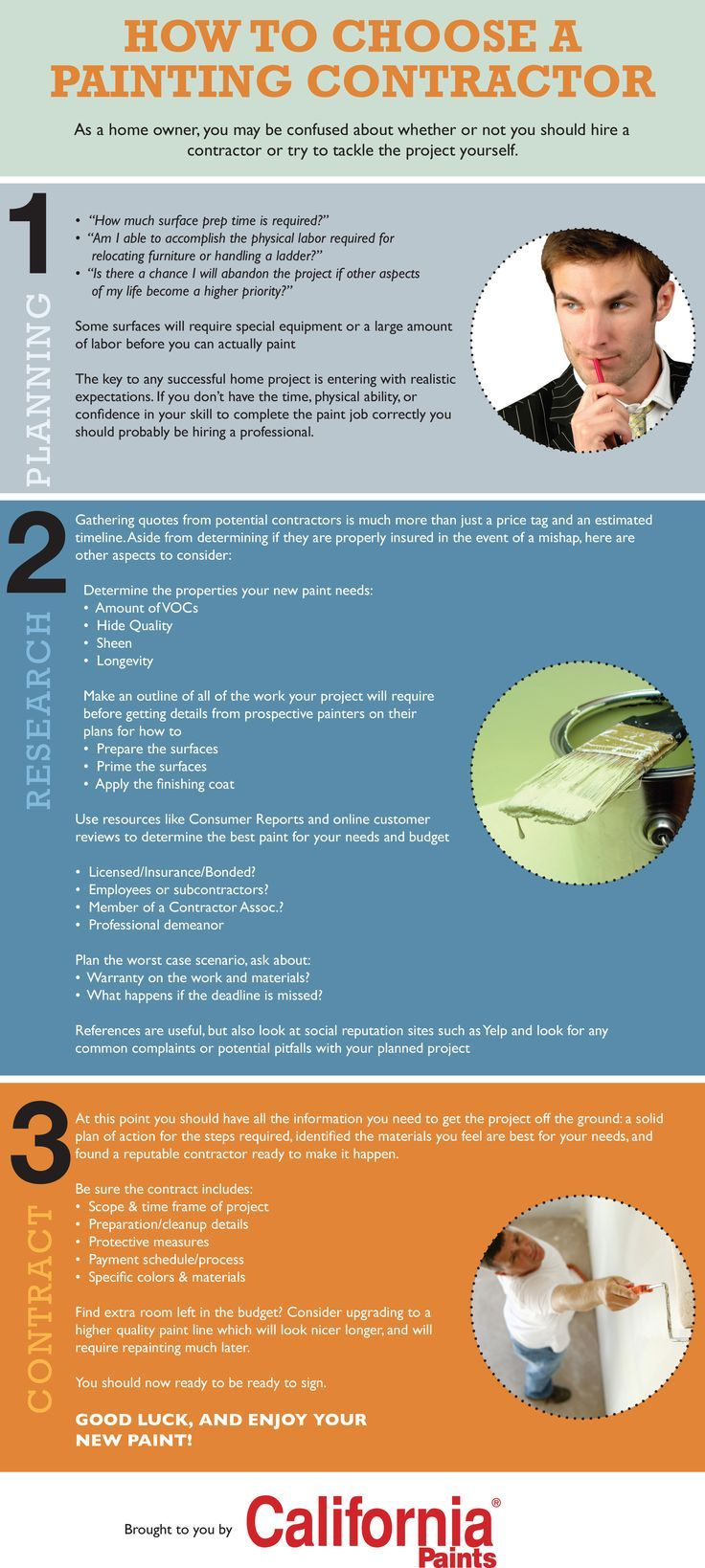How to Hire a Painting Contractor [Infographic] Painting