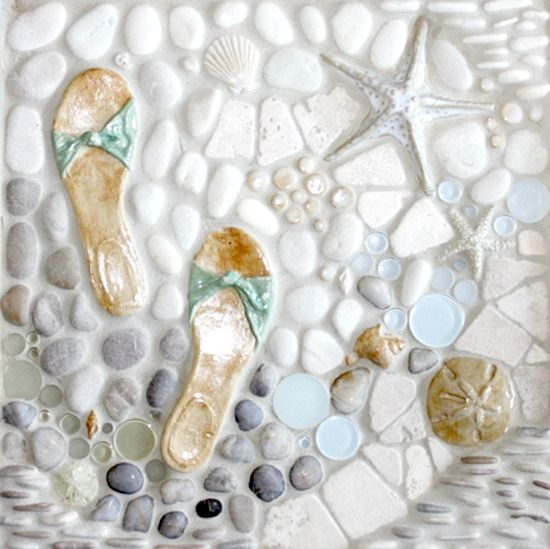 Beach Tile Art For Bathrooms And Kitchens Inspired From The Beach