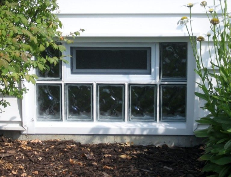 Windows Glass Block Basement Windows With Good Form On The Back Wall Of The House At The Bott Glass Block Basement Windows Basement Windows Glass Block Windows
