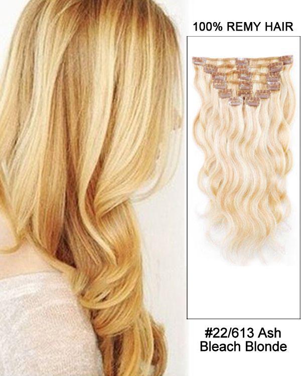 14 7pcs 22 613 Ash Bleach White Blonde Body Wave 100 Remy Hair