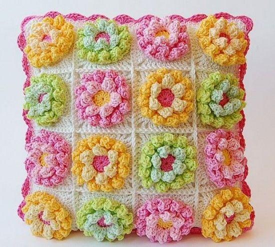 Blooming Flower Cushion Crochet Pattern | Free pattern, Crochet and ...