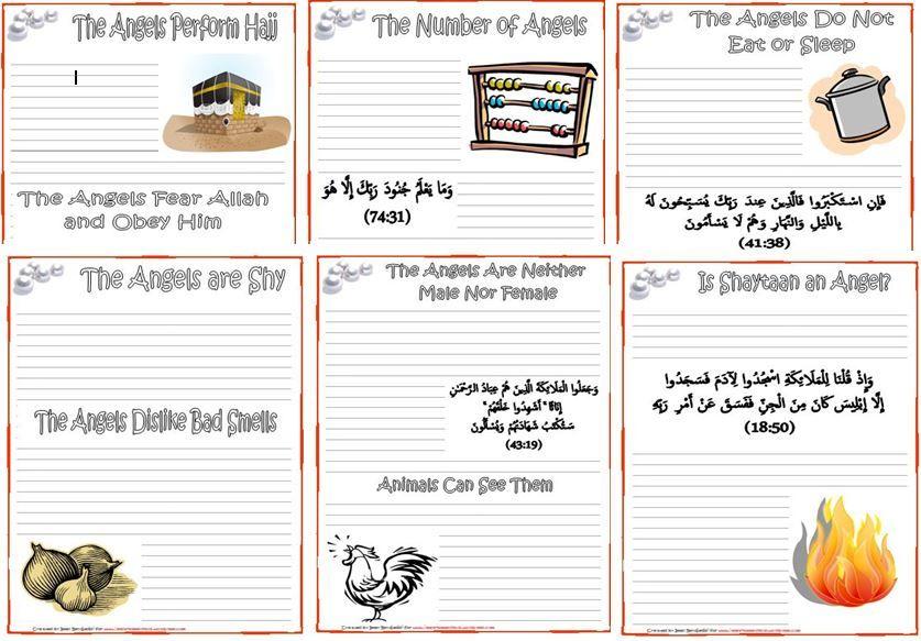 image result for pillar of islam worksheet terbiyat pinterest islamic studies and angel. Black Bedroom Furniture Sets. Home Design Ideas