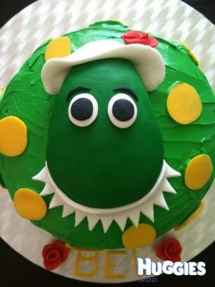 DOROTHY Dorothy the Dinosaur Chocolate mud cake with butter
