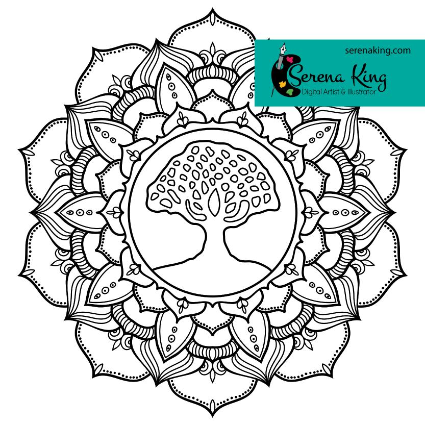 Tree Of Life Mandala Coloring Page Mandala coloring