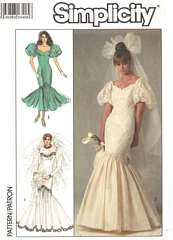 Mermaid Style Wedding Dress Sewing Patterns