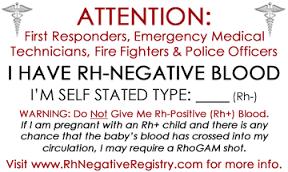 Rh negative bloodline