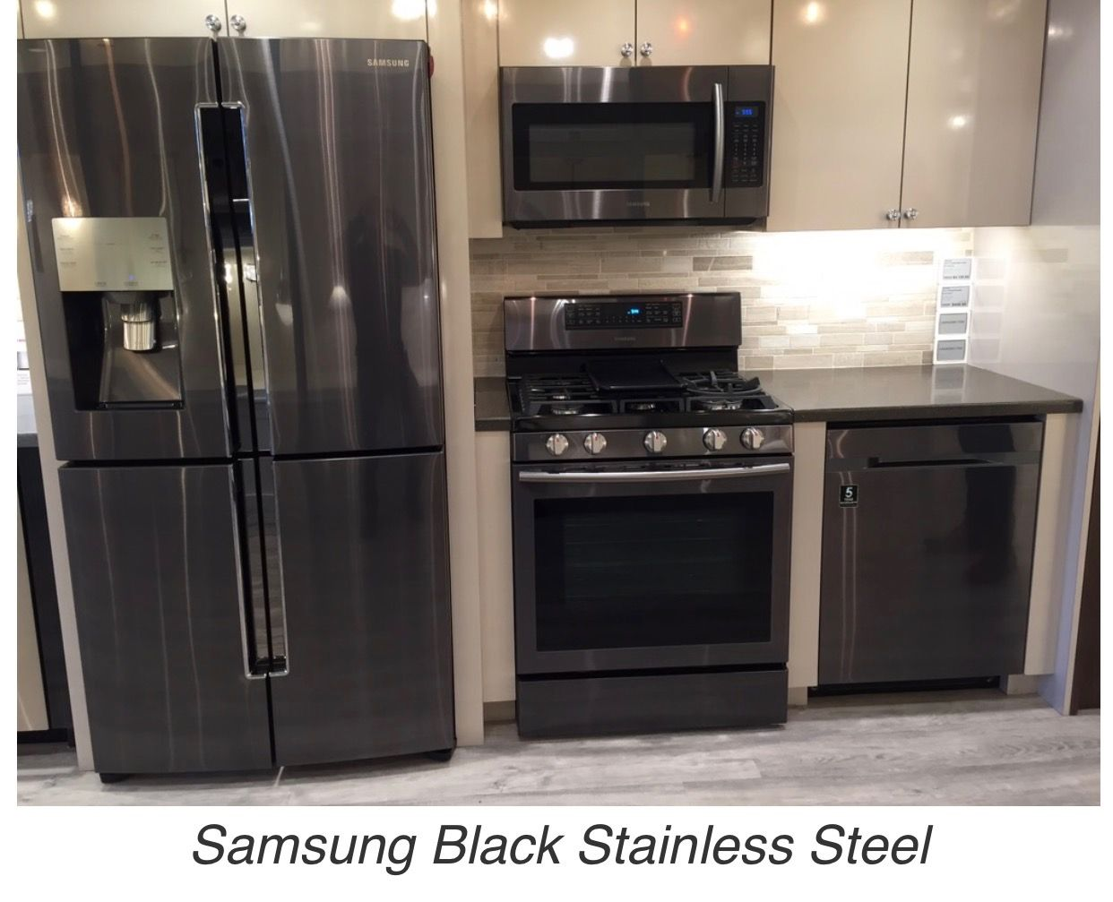 Black Stainless Steel Appliances Google Search Black Stainless Steel Kitchen Samsung Kitchen Samsung Kitchen Appliances