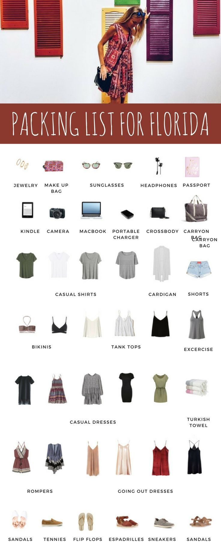 Packing list for Orlando & Palm Beach Area with Lo & Sons #beachvacationclothes