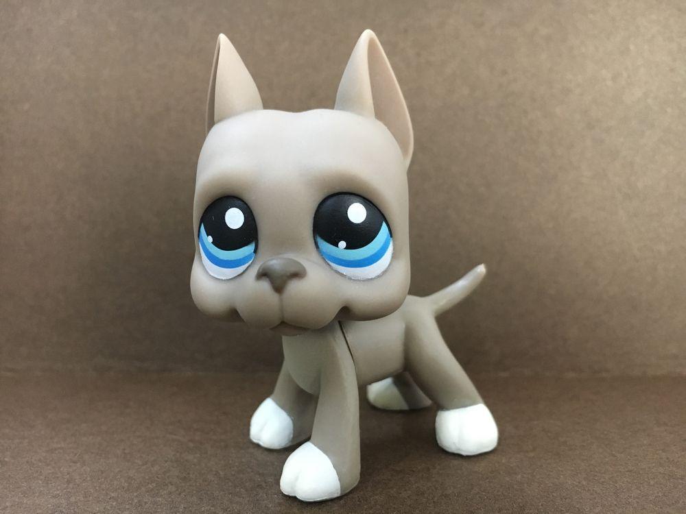 184 Grey Great Dane Pubby Dog Littlest Pet Shop Lps Mini Action