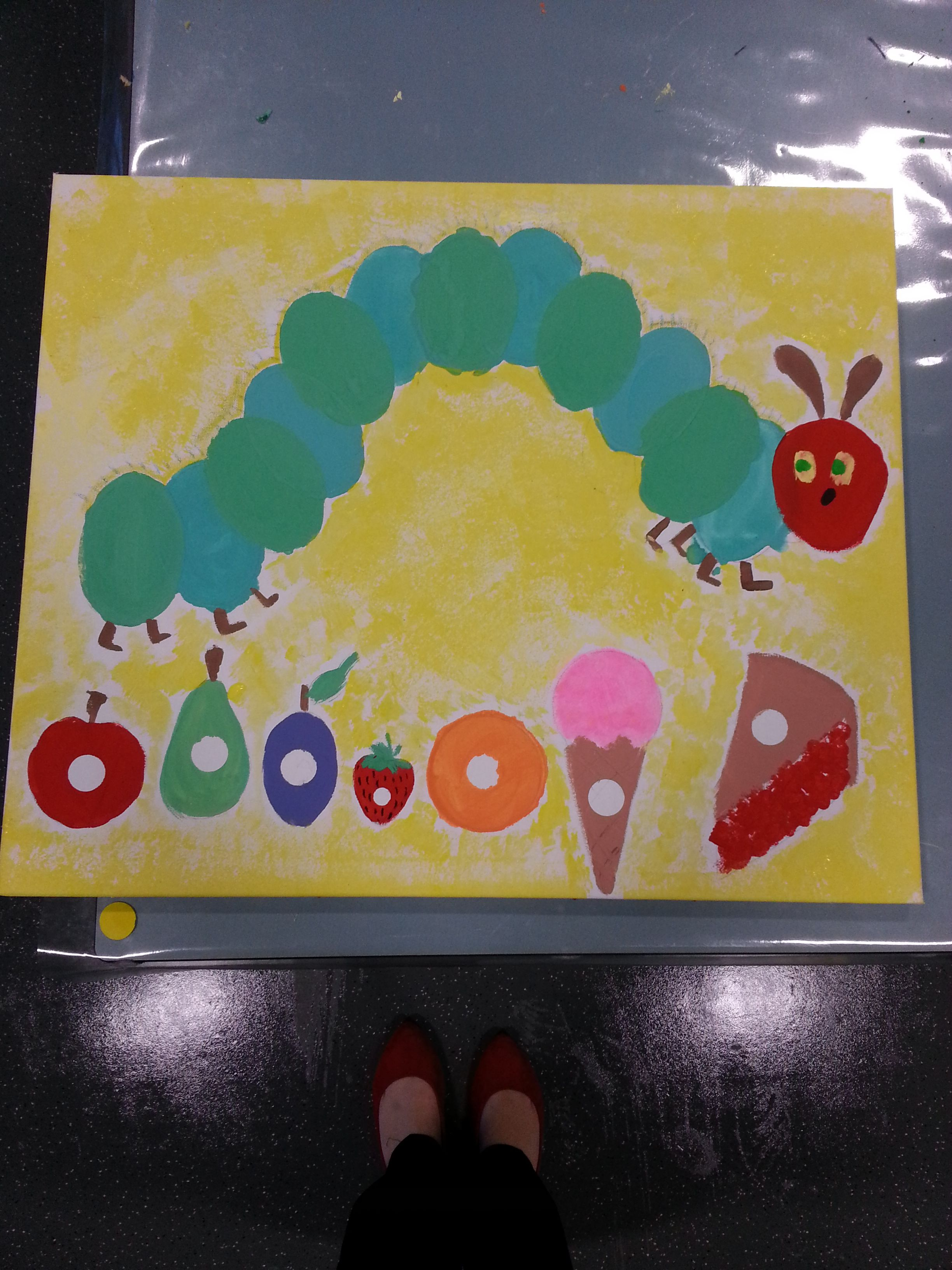 The Very Hungry Caterpillar class canvas | Canvas Art | Pinterest ...