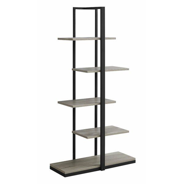 Blalock Geometric Bookcase Metal Bookcase Bookcase Etagere
