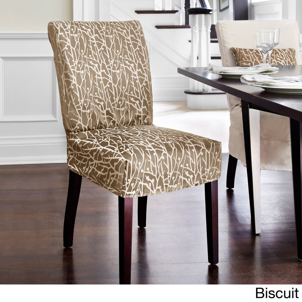 Fine Quickcover Westwood Dining Chair Relaxed Fit Slipcover With Short Links Chair Design For Home Short Linksinfo