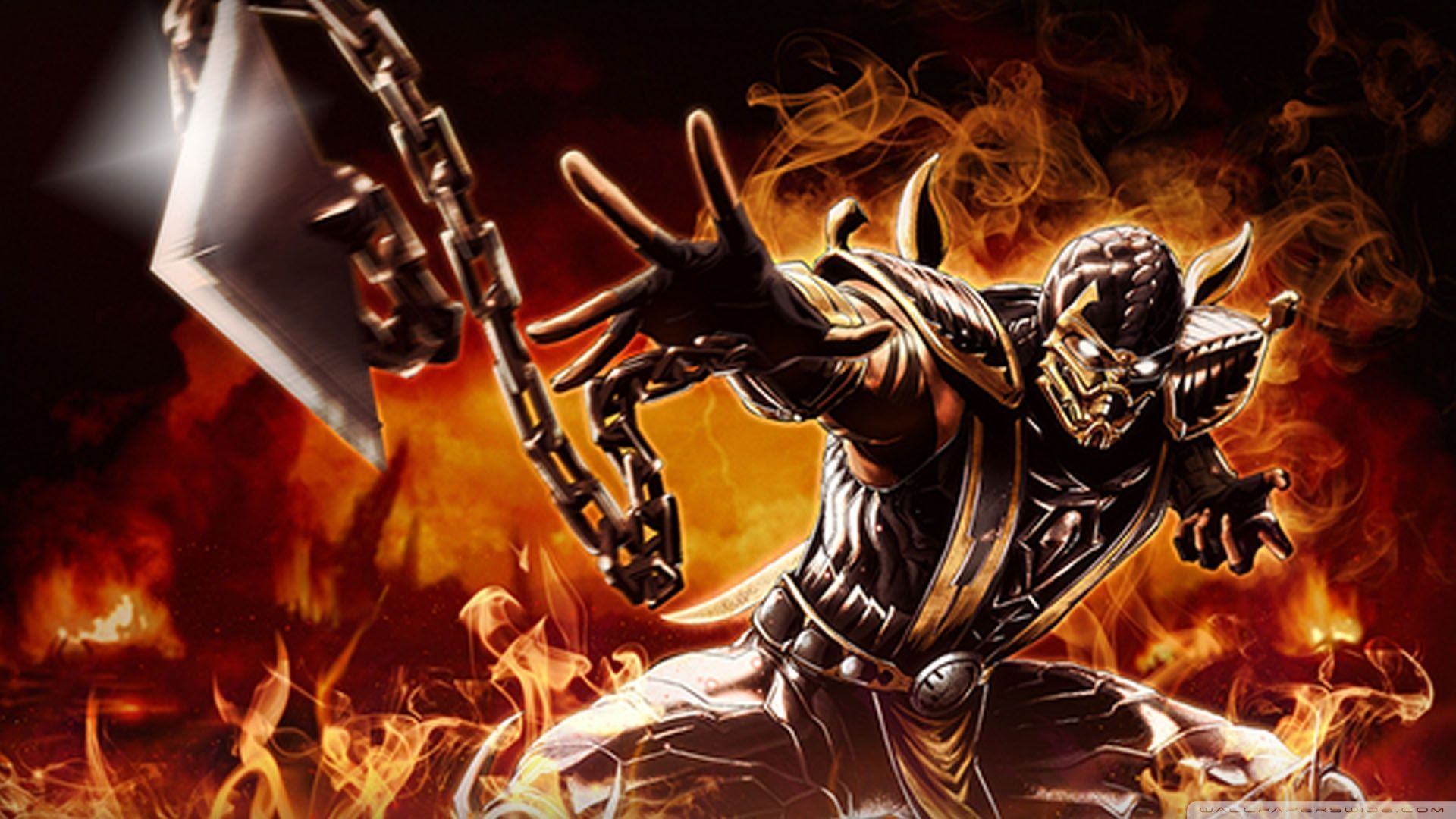 scorpion mortal kombat x wallpaper hd