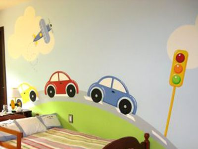 Decoraci n de paredes pintura mural decorativa - Pintura infantil pared ...