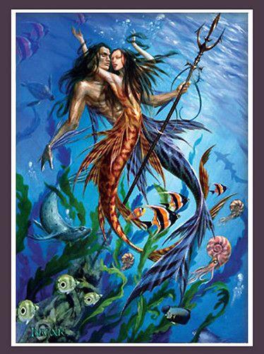 Mer Folk Merman & Mermaid Print by Briar