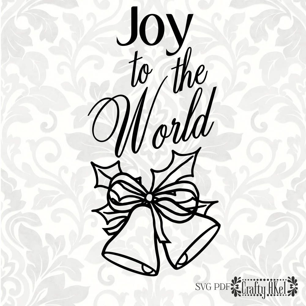 Joy to the world Christmas svg (SVG, PDF, Digital File