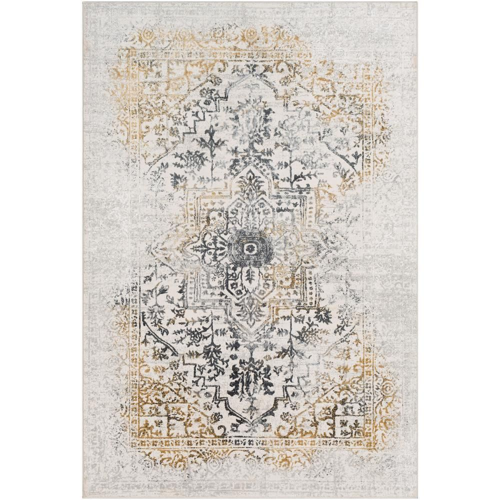 Artistic Weavers Marquis Yellow 9 Ft 3 In X 12 Ft 3 In Medallion Area Rug Area Rugs Traditional Area Rugs Rugs