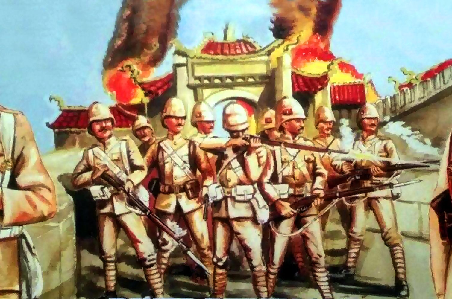 British Army In China Boxer Rebellion 1900 Military Artwork