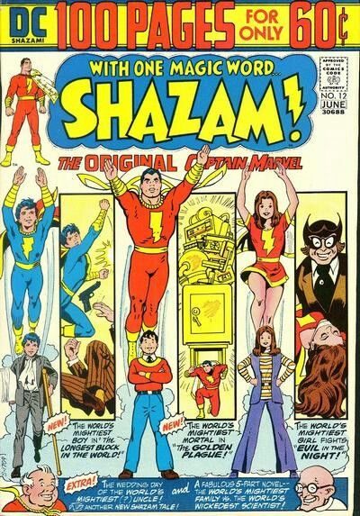Shazam 12 June 1974 100 Page Super Spectacular Cover Art By