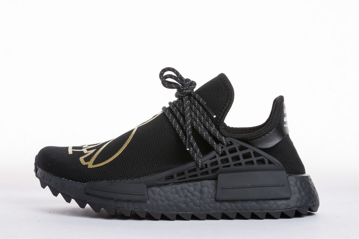 869160f50 OVO x Pharrell Williams x Adidas NMD Human Race BB7603 Black Gold Real  Boost for Sale1