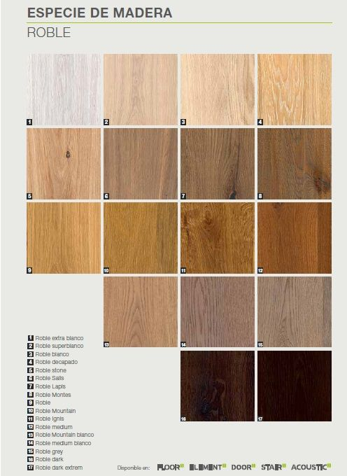 Oak wood different colors textures and best quality - Parquet paredes ...