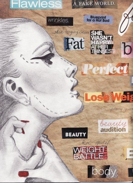 Studies Send Mixed Messages On >> Body Image Mixed Media Women S Studies Gcse Art Sketchbook