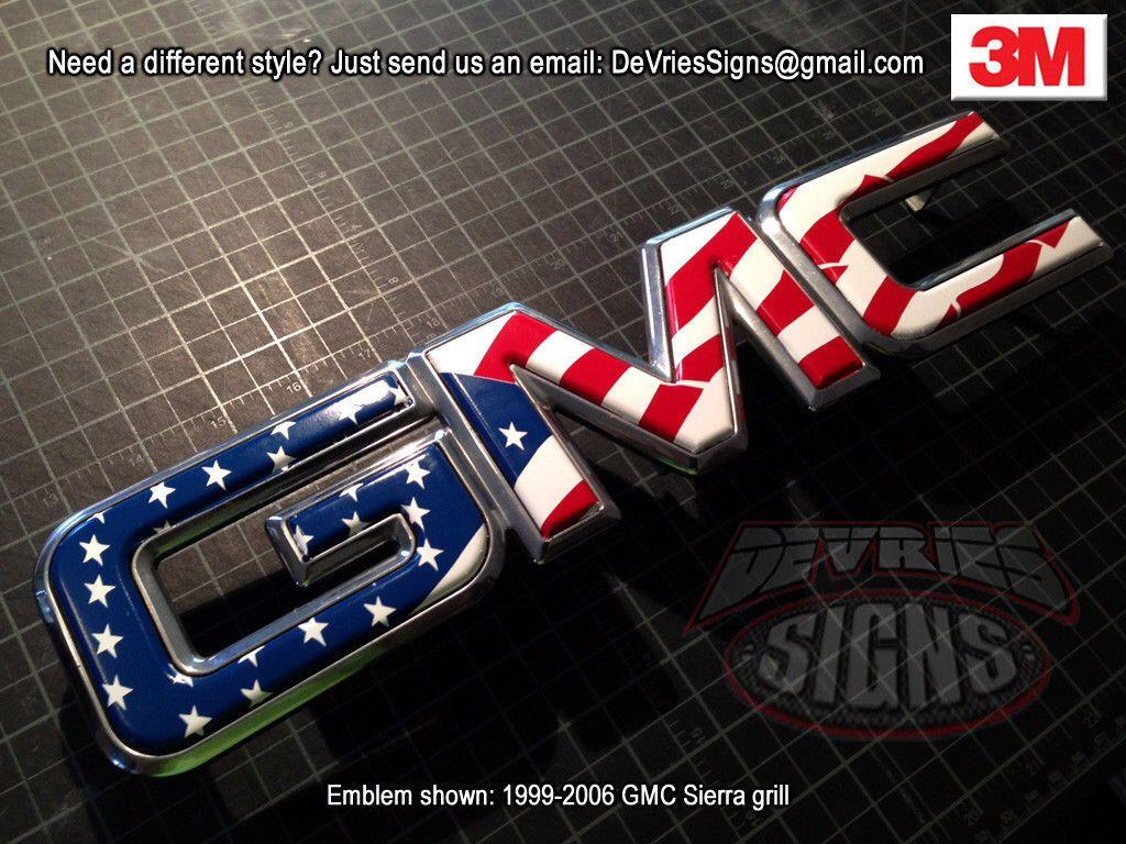 Precut Gel Coated Domed Emblem Overlay Compatible With Gmc Etsy Gmc Trucks Gmc Sierra Gmc
