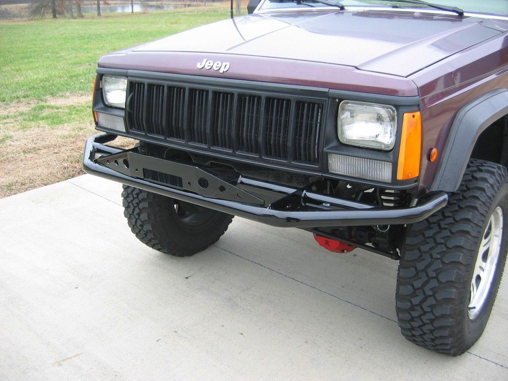 Rusty S Offroad Series 2 Pre Runner With Winch Plate Xj Cherokee Crawltech Jeep Bumpers Pre Runner Jeep Xj