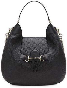 846d95053a6 Gucci Emily Guccissima Leather Hobo Bag