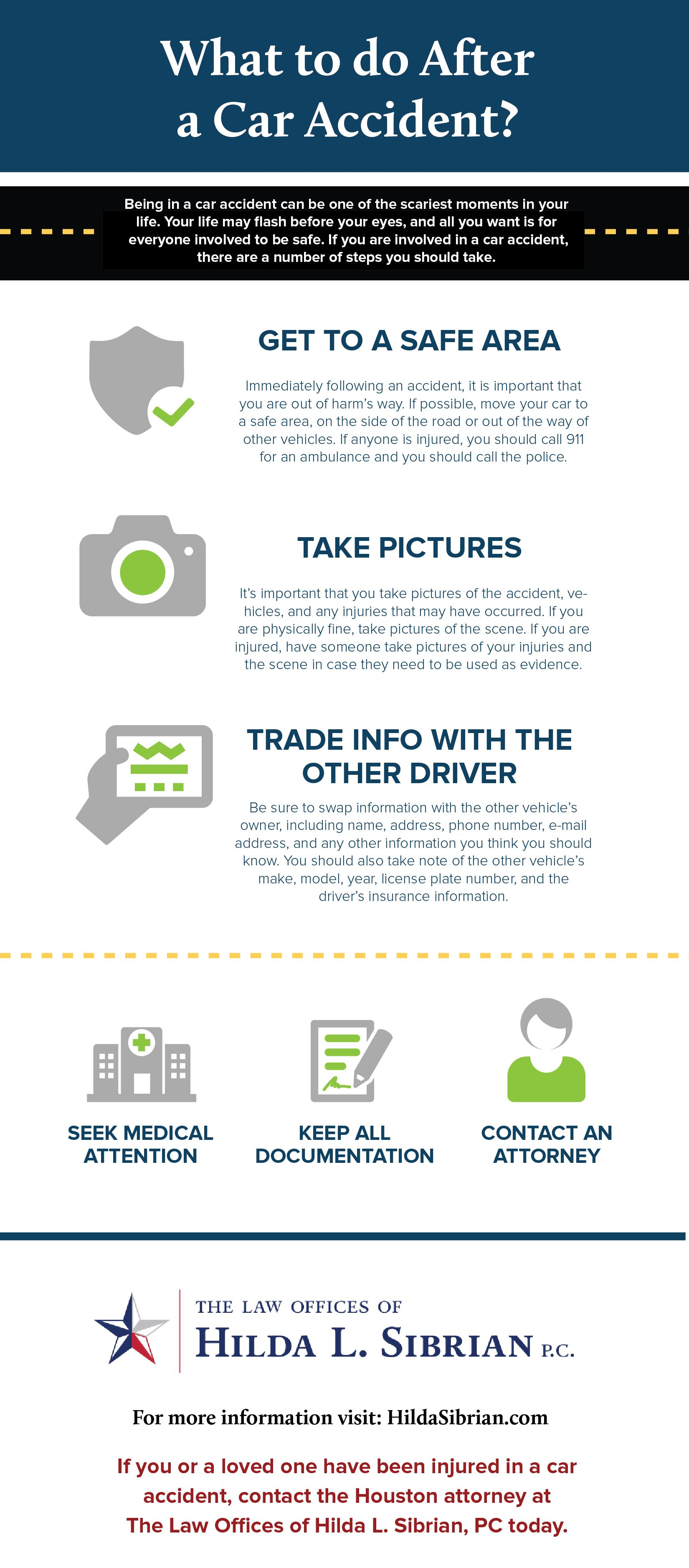 Infographic What To Do After A Car Accident Personal Injury Law Car Accident Infographic