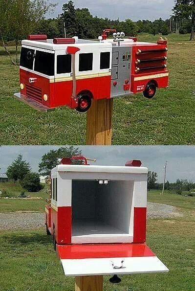 Firefighter Mailbox If We Ever Have A Street One Geschenk Fur Feuerwehrmann Feuerwehrmann Briefkasten