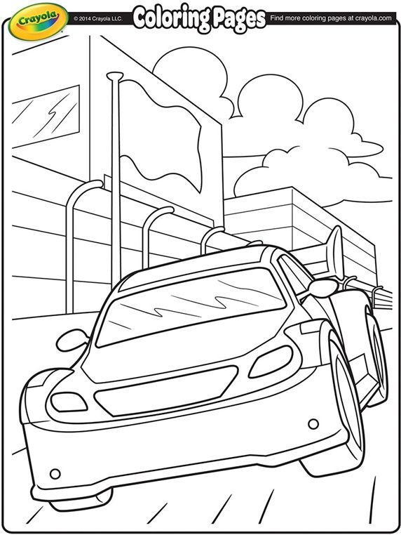 Nascar Stockcar On Crayola Com Crayola Coloring Pages Cars