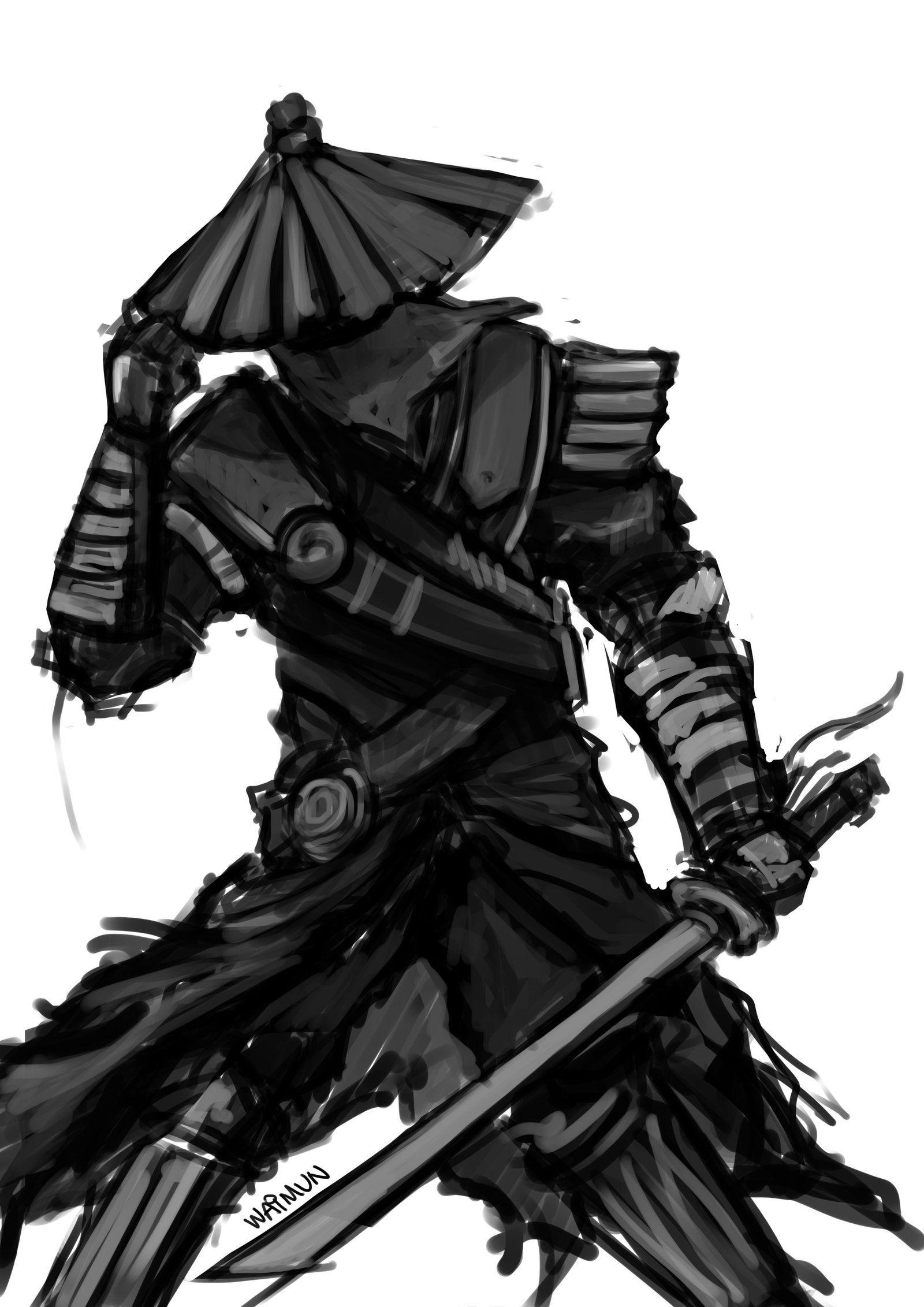 Quick Sketch Samurai by ShockyTheGreat on DeviantArt