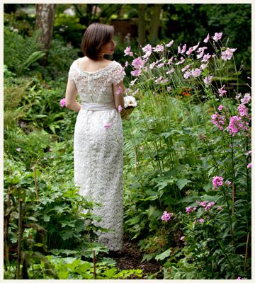 30's inspired feather and lace wedding dress - Lindsay wedding dress By Baroque Couture