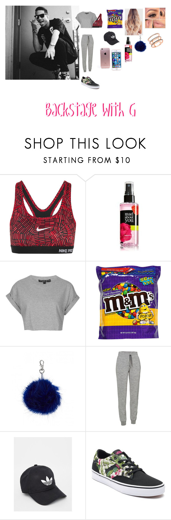 """""""Backstage with G."""" by lanagillum on Polyvore featuring beauty, Sephora Collection, NIKE, Topshop, Icebreaker, adidas, Vans and EF Collection"""