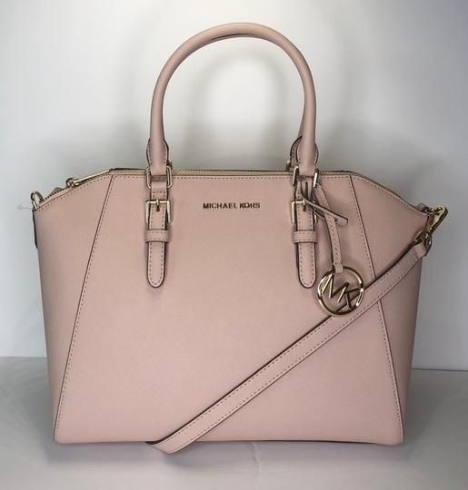 be7db2354a494c Save big on the Michael Kors Ciara Large Ballet Leather Satchel! This  satchel is a top 10 member favorite on Tradesy.