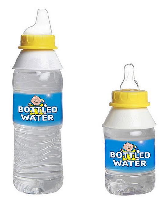 LOT OF 3 BABY WATER BOTTLE NIPPLE ADAPTERS TURNS WATER BOTTLE INTO BABY BOTTLE
